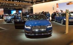 Toronto, Kanada - 2018-02-19: Lincoln MKZ sedan wystawiający na Lincoln silnika firmy ekspozyci na 2018 kanadyjczyku Fotografia Stock