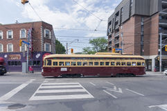 TORONTO KANADA, MAJ, - 28, 2016: rocznika PCC 1951 tramwaj przy Du Zdjęcie Royalty Free