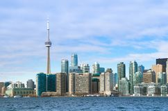 Toronto Kanada, Styczeń, - 27, 2016: Toronto linii horyzontu widok od obraz stock