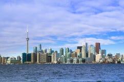 Toronto Kanada, Styczeń, - 27, 2016: Toronto linii horyzontu widok od Zdjęcie Stock