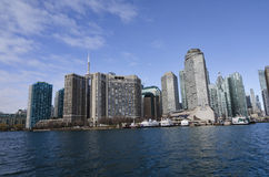 Toronto Kanada, Styczeń, - 27, 2016: Toronto linia horyzontu od jeziora, Ontario, Kanada Zdjęcia Stock