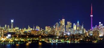 Toronto Kanada vid natt Arkivbilder