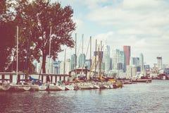 TORONTO KANADA, WRZESIEŃ, - 19, 2018: Marina przy Toronto wyspą, zdjęcie stock
