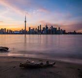 Toronto Kolorowy zmierzch obraz stock