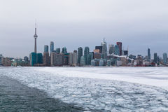 Toronto and Lake Ontario in the Winter Stock Photo