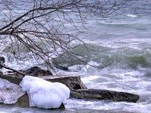 Toronto Lake winter storm 2016 Stock Image