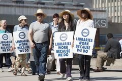 Toronto library labour dispute Stock Photos