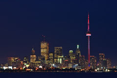Toronto lights at dusk Royalty Free Stock Photos