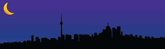 Toronto; lights out. Skyline view of Toronto at night Royalty Free Stock Photography