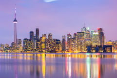Toronto linia horyzontu Obrazy Royalty Free