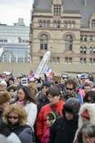 Toronto ludzie spotykają w czuwaniu Obraz Royalty Free