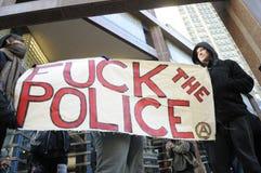 17de Internationale Dag tegen het Barbarisme van de Politie in Toronto. Royalty-vrije Stock Foto's