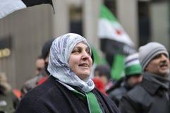 Verzameling aan teken 2 jaar van Syrische revolutie in Toronto Royalty-vrije Stock Afbeeldingen