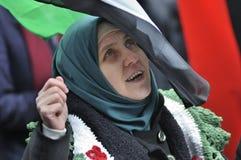 Verzameling aan teken 2 jaar van Syrische revolutie in Toronto Royalty-vrije Stock Fotografie