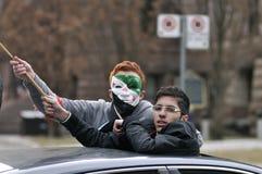 Verzameling aan teken 2 jaar van Syrische revolutie in Toronto Stock Foto's