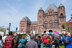 Toronto Maart voor Wetenschap in Queenspark Royalty-vrije Stock Fotografie