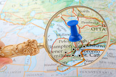 Toronto map tack Stock Image
