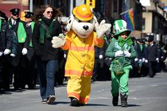 Toronto's annual St. Patrick's Day parade Royalty Free Stock Photo
