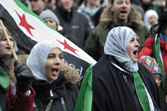 Rally to mark 2 years of Syrian revolution in Toro Royalty Free Stock Images