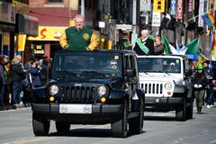 Toronto's annual St. Patrick's Day parade Stock Photography