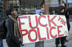 17th International Day Against Police Brutality  in Toronto. Royalty Free Stock Images