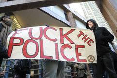 17th International Day Against Police Brutality  in Toronto. Royalty Free Stock Photos