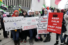 Rally to mark 2 years of Syrian revolution in Toronto Stock Photos