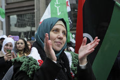 Rally to mark 2 years of Syrian revolution in Toronto Royalty Free Stock Image