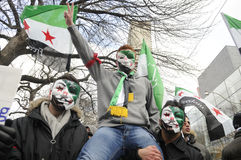 Rally to mark 2 years of Syrian revolution in Toronto Stock Image