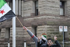 Rally to mark 2 years of Syrian revolution in Toronto Stock Images