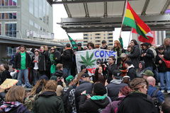 Toronto Marijuana Protest B Stock Photo