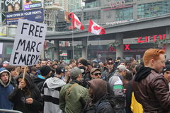 Toronto Marijuana Protest C Royalty Free Stock Photo