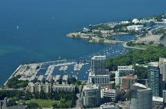 Toronto marina aerial view Royalty Free Stock Image