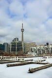 Toronto marina i vinter Royaltyfri Fotografi