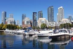 Toronto marina och bostads- byggnader Royaltyfri Fotografi