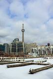 Toronto marina in winter Royalty Free Stock Photography