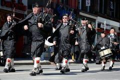 Défilé annuel de jour du St Patrickâs de Toronto Photos libres de droits