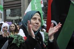 Rassemblement pour marquer 2 ans de révolution syrienne à Toronto Image libre de droits