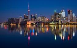 Toronto miasta linii horyzontu odbicie Zdjęcia Royalty Free