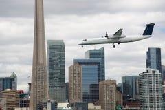 Toronto, miasto lotnisko zdjęcia stock