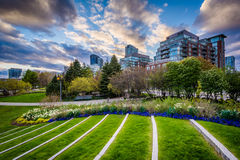 The Toronto Music Garden, at the Harbourfront in Toronto, Ontari. O Stock Images