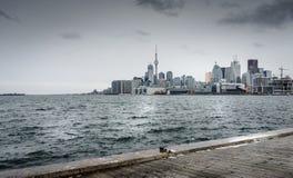 Toronto na zimnym zima dniu Obrazy Stock