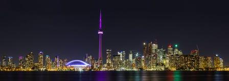 Toronto-Nacht panoramisch stockfotografie