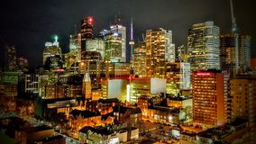 Toronto nachts stockbild