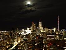 Toronto nachts Lizenzfreie Stockbilder