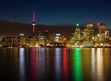 Toronto nachts, Kanada lizenzfreies stockfoto
