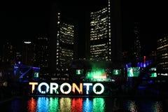 Toronto Nathan Philip Square (jeux de Pan Am) Images libres de droits