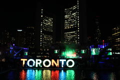 Toronto Nathan Philip Square (Pan Am lekar) Royaltyfria Bilder
