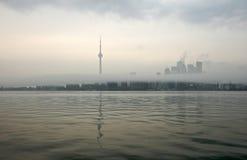 Toronto in nebbia Fotografia Stock