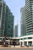 Toronto New Condos and CN Tower Stock Photo